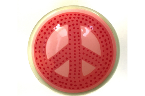 Watermellon Peace Sign Bowl by Lacey Pots Pottery