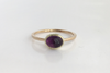 Deer Hill: Maine Amethyst 14k Yellow and Green Gold Ring