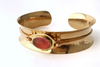 Channel: Gold Anticlastic Bracelet Extra Wide