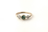 Blue Water Maine Tourmaline Diamond Yellow Gold Ring