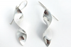 Spiral Drops: Sterling Silver Earrings