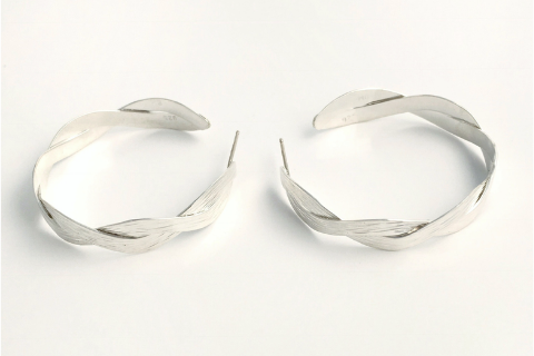Interlace Hoops: Sterling Silver Earrings