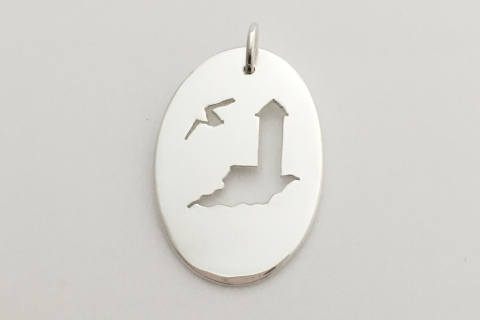Lighthouse: Sterling Silver Pendant