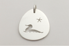 Loon and Star: Sterling Silver Pendant