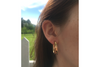 Oval Channel Hoops: 14k Gold Earrings