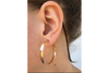 Solid Channel: 14k Yellow Gold Hoop Earrings