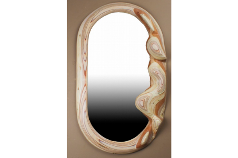 Vertical Figure Mirror by Plywood Sculpture
