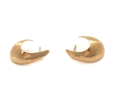 Perfectly Puddled Half Hoop Earrings in 14k Yellow Gold