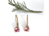 Perfectly Pink: Maine Tourmaline Earrings set in 14k Yellow Gold