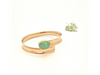Four Leaf Clover: Green Maine Tourmaline Overlap Gold Bracelet