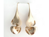 Drop Twist Anticlastic Earring in 14k Yellow Gold