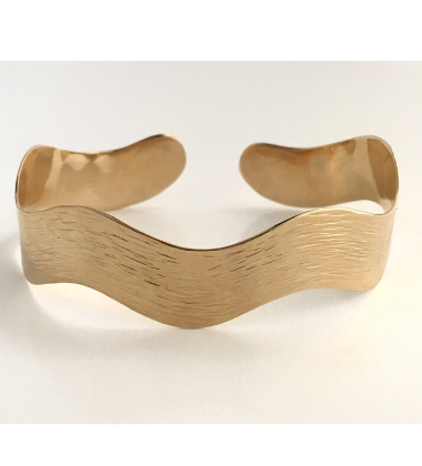 River Gold Bracelet Wide