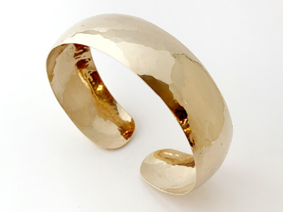 Perfectly Puddled: 14k Yellow Gold Bracelet Wide
