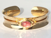 Sunset Cruise: Maine Pink Tourmaline 14k Yellow Gold Bracelet