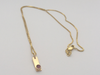 Raspberry Bar: Yellow Gold Pendant with Maine Tourmaline