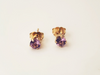 Purple Ray: Maine Amethyst Earrings with 14k Yellow Gold Posts
