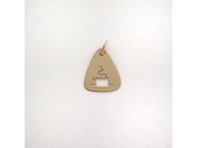 Tea Cup: 14k Gold Pendant