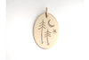 Twin Pines: 14K Gold Pendant