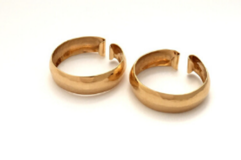 Hammered Hoop Clip-On: 14k Gold Earrings