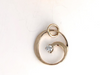 Circle of Life: Diamond and 14K Gold Pendant