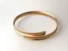 Channel: 14k Gold Overlap Cuff