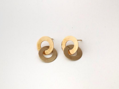 Double Circle Earrings: Small