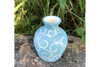 Mini Blue Swirl Vase by Lacey Pots