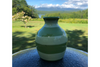 Mini Green Stripe Vase by Lacey Pots