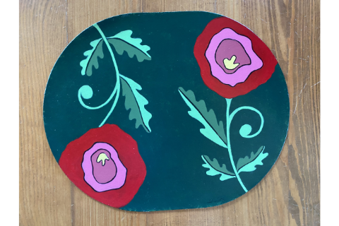 Flowers Placemat by Sandra Smith