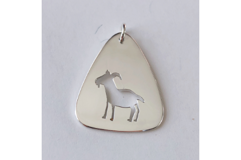 GOAT: Sterling Silver Pendant
