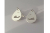 Whale: Sterling Silver Earrings