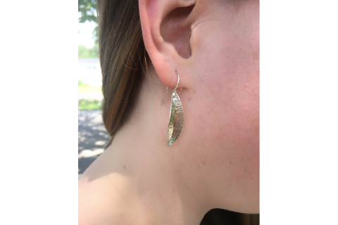 Feather: Sterling Silver Earrings Small