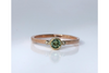 Kimball Pond: Green Maine Tourmaline in Rose and Yellow Gold