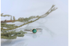 Moose Pond, Sparhawk Green Maine Tourmaline White and Yellow Gold Ring