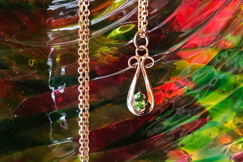 Touch of Green: Maine Tourmaline 14k Gold Pendant
