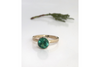Crystal Lake: Blue Green Maine Tourmaline Ring