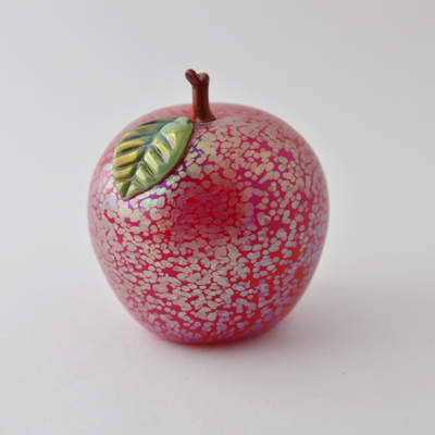 Venetian Red Apple by Orient and Flume Art Glass