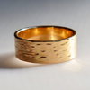 River: 14k Medium Textured Ring, Sizes 8-11