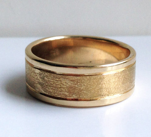Route 112: Etched 7mm Ring Size 4.5-7.5