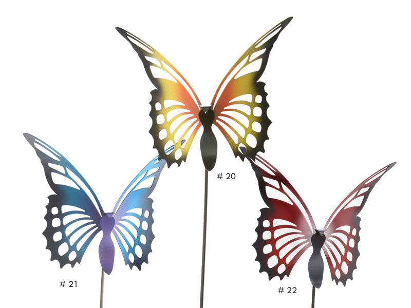 Multi Color Butterfly Garden Stakes By Cricket Forge Metal Works