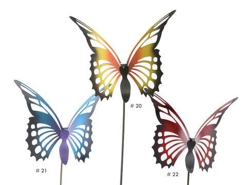 Multi-Color Butterfly Garden Stakes by Cricket Forge Metal Works