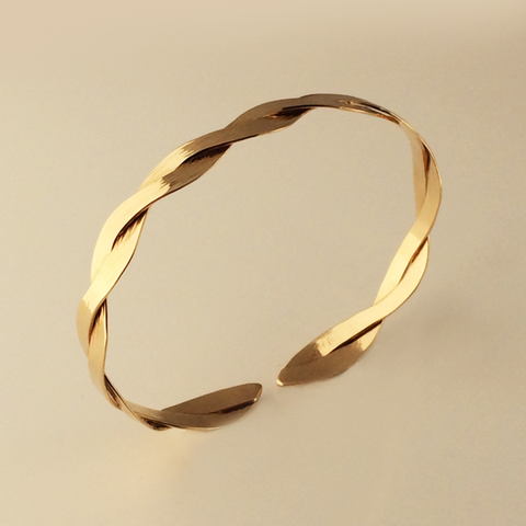 Interlace Gold Bracelet 7mm