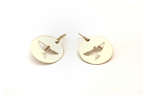 Soar High: Eagle Earrings in 14k Gold