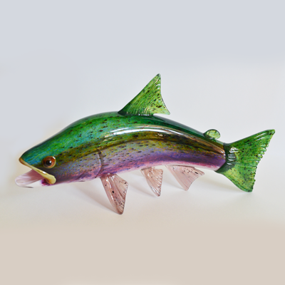 Glass Blown Rainbow Trout By Michael Hopko