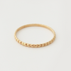 First Kiss: 14k Stackable Skinny Beaded Ring, Sizes 8-11