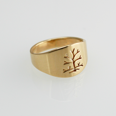 Tree of Life: Yellow Gold Ring size 8-11