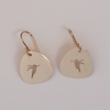 Hummingbird Earrings in 14k Yellow Gold