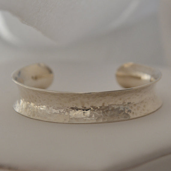 Perfectly Puddled Channel Bracelet: Sterling Silver