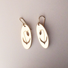 Lady Slipper Earrings in 14k Yellow Gold