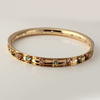 Pink and Green Tourmaline 14k Yellow Gold Bangle Bracelet